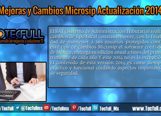 Mejoras y Cambios Microsip Actualización 2014