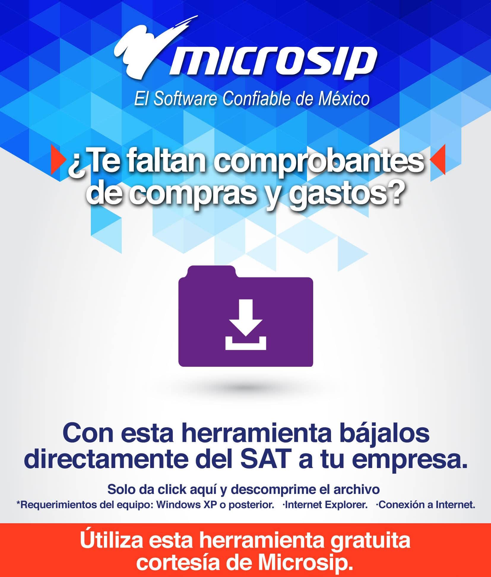 Herramienta gratuita de descarga CFDI Tecfull Microsip