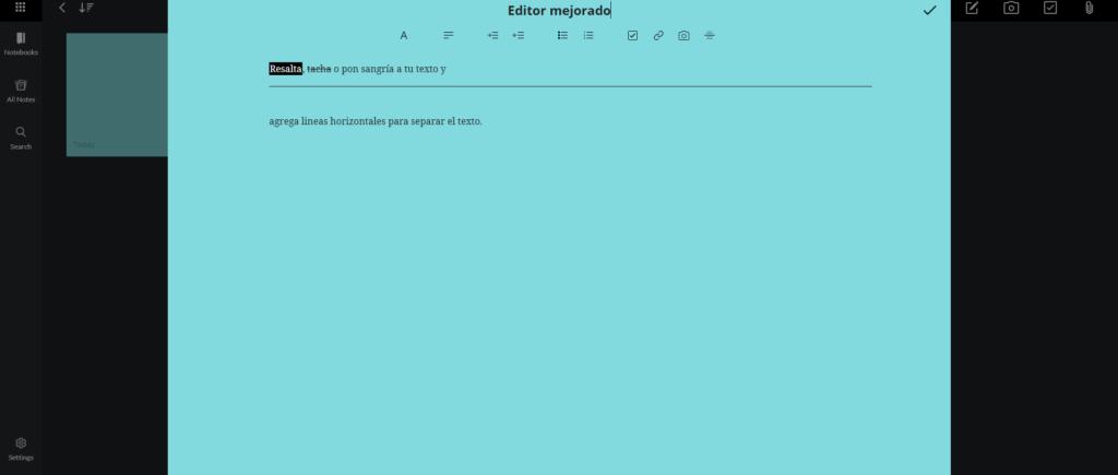 editor mejorado